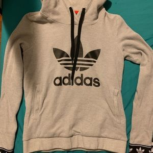 adidas Tops - Grey adidas pullover hoodie